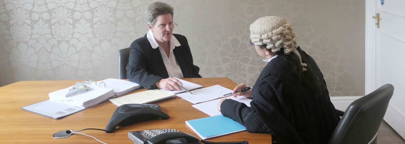 Meeting with barrister